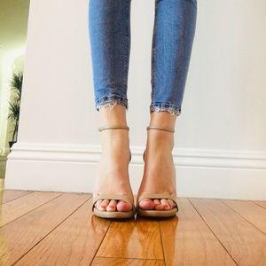 Steve Madden Nude Strappy Sandal Heels 7
